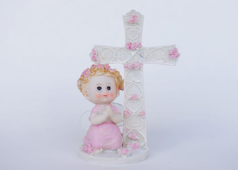 6 Inch Praying Angel Figurine Baptism & Communion Party Favors Decoration Girl (12 Pieces)