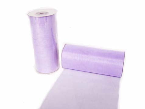 6 x 25 Yards Wide Organza Ribbon Lavender