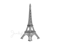25'' Silver Finish Eiffel Tower