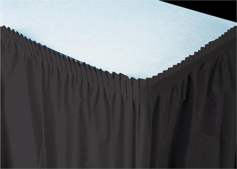 Black Plastic Table Skirt (1 Piece)