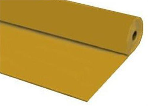 Gold Plastic Table Cover 40 x 100 ft