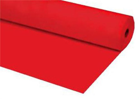 Red Plastic Table Cover 40 x 100 ft