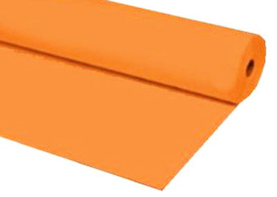 Orange Plastic Table Cover 40 x 100 ft