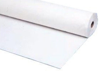 White Plastic Table Cover 40 x 100 ft
