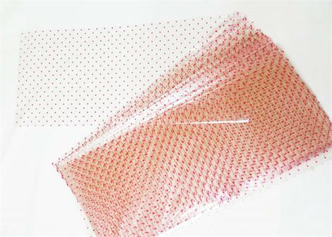 "8""x18"" Valentine's Red Heart Printed Cellophane Bag (50 Pieces)"