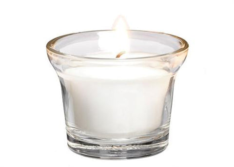 "1 7/8"" Filled Gathering Votive White (12 pieces)"