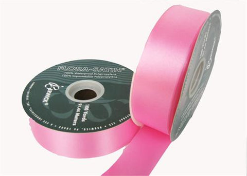 "#9 Azalea Flora Satin Ribbon 1- 7/16"" X 100 Yards (1 Roll)"