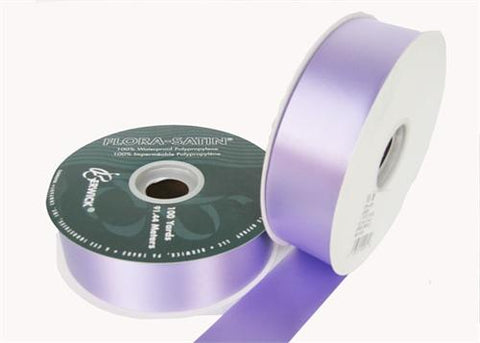 "#9 Lavender Flora Satin Ribbon 1- 7/16"" X 100 Yards (1 Roll)"