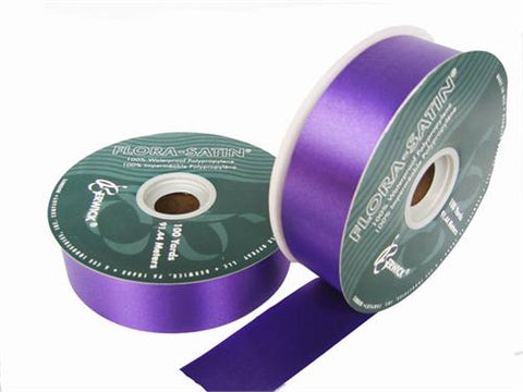 "#9 Purple Flora Satin Ribbon 1- 7/16"" X 100 Yards (1 Roll)"