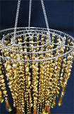 Acrylic Chandelier Centerpiece Gold For Party Decoration