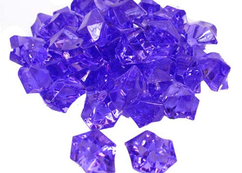 Acrylic Ice Crystal Rocks Vase Filler 23 X 18MM Purple (1 LB/Bag)