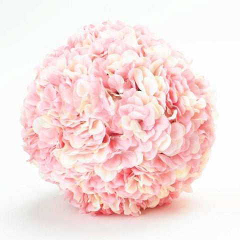 "Artificial Silk Flower Hydrangea Pomander Kissing Ball 10"" Blush Pink"