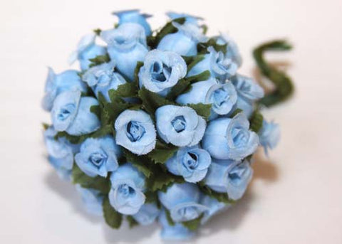 Blue Poly Rose Bud (144 Flowers)