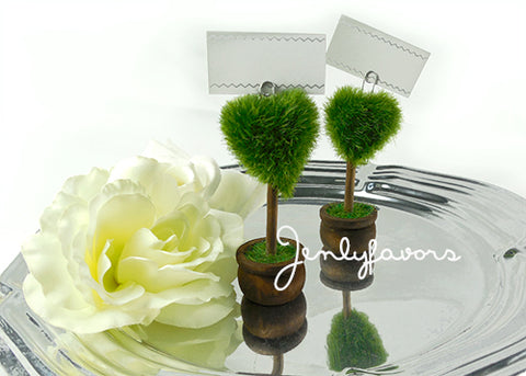 "4"" Heart Shape Moss Card Holder (12 Pieces)"