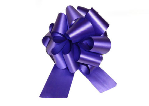 Large Purple Pull Bow (10 Pieces)
