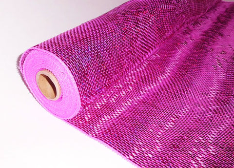 "21"" X 10 Yards Decorating Solid Laser Mesh Metallic Fuchsia  (1 Roll)"