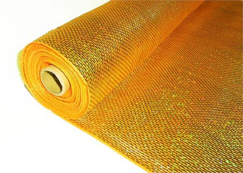 "21"" X 10 Yards Decorating Solid Laser Mesh Orange/Gold   (1 Roll)"
