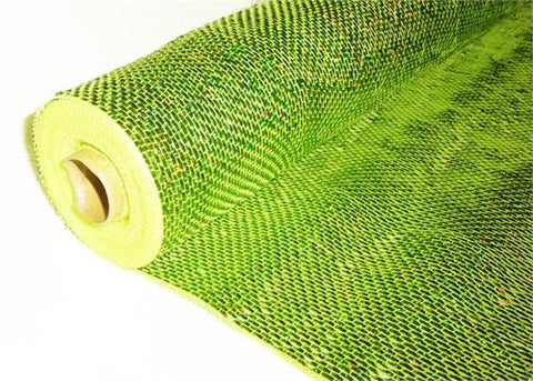 "21"" X 10 Yards Decorating Solid Laser Mesh Metalic Apple Green  (1 Roll)"