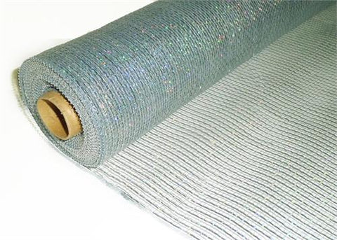 "21"" X 10 Yards Decorating Mesh Silver (1 Roll)"
