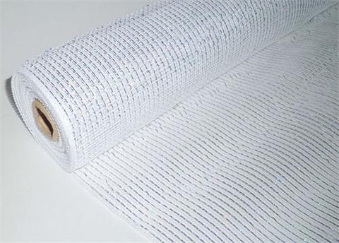 "21"" X 10 Yards Decorating Mesh Iridescent White (1 Roll)"