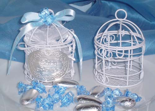 Small Wire Bird Cage Favor White Gold Or Silver 10