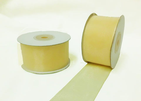 "1-1/2"" Sheer Organza Ribbon Ivory 25 Yards"