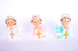 Praying Baby Angel with a Gold Cross and Feather Wings Pink (12 Pieces)