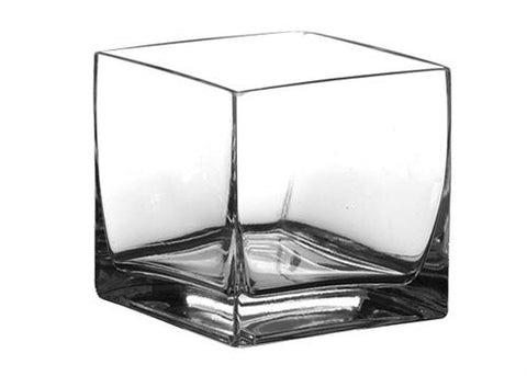 "Crystal Square Vase 5"" x 5"" x 5"" (12 pieces)"