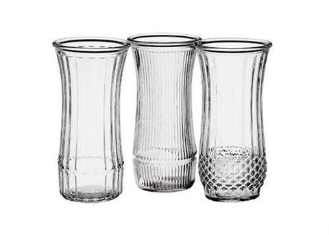 "9-3/4""Crystal Glass Rose Vase Assortment (1 Dozens)"