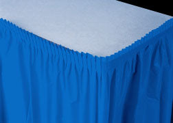 Royal Blue Plastic Table Skirt (1 Piece)