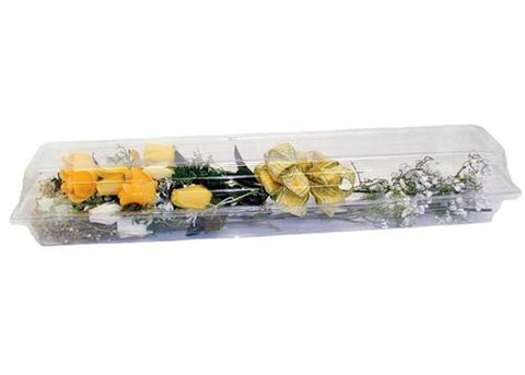 "Plastic Floral Box 24"" Long (12 pieces)"
