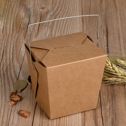 Chinese Take Out Box Natural Brown 4 Inch 26 OZ (12 Pieces)