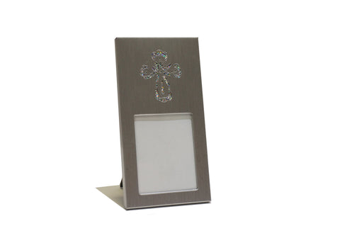 Cross Design Metal Place Card or Photo Frame Sliver (12 Pieces)