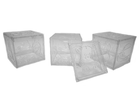 Plastic Clear Baby Cubes Favor Box (12 pieces)