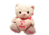 Baby Shower Teddy Bear Plush (1 piece) Pink