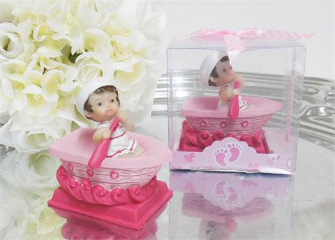 Baby on Boat - Baby Shower Favor Pink - 12 pcs