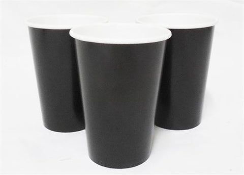 12 oz. Midnight Black Paper Cup (10 Pieces)