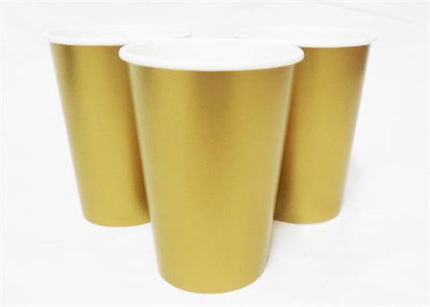 12 oz. Gold Paper Cup (10 Pieces)
