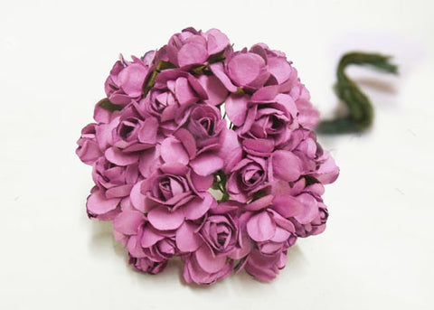 "0.75"" Mini Mulberry Paper Flower Purple(120 Flowers)"