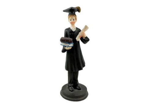 Polyresin Graduation Figure Favor Boy (12 Pieces)