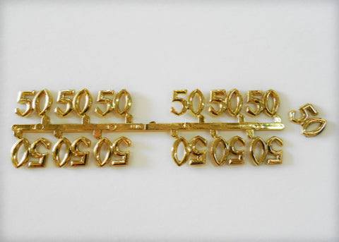 Miniature Number 50 Pure Gold (144 pieces)