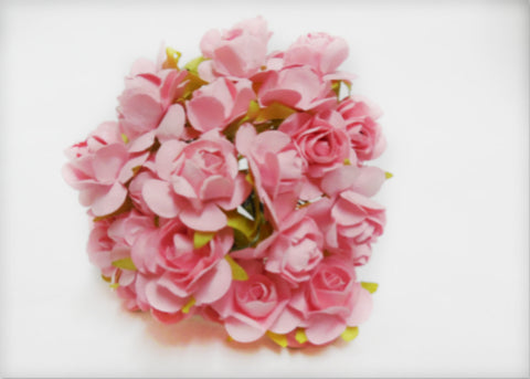 "0.75"" Mini Mulberry Paper Flower Pink (120 Flowers)"