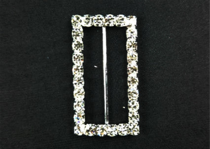 "2""x 1.25"" Rectangular Shape Rhinestone Buckles (4 Pieces)"