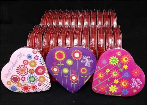 Elmer Valentines Chocolate 3.2 OZ Heart Shaped Box Assorted Style (24 boxes)