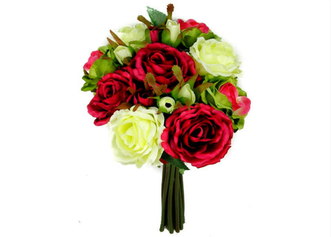 Roses Mix Silk Flower Bouquet