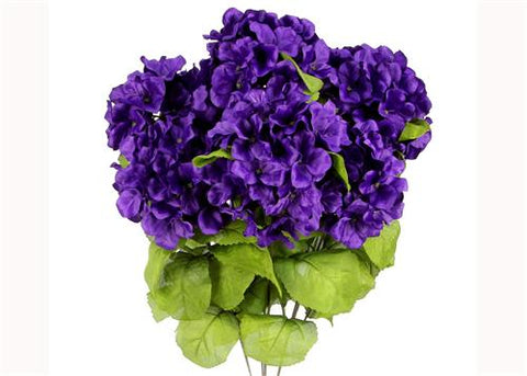 Wholesale price artificial flowers silk flowers miami satin hydrangea silk flower bush 7 heads purple mightylinksfo