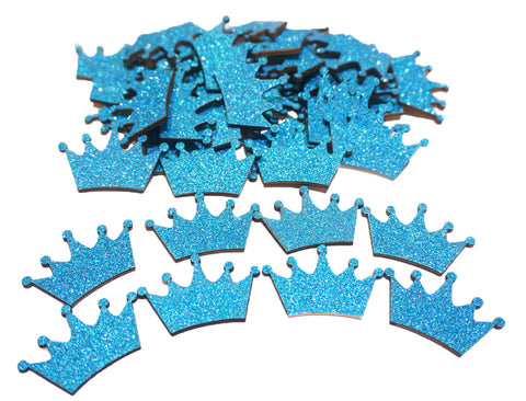 Turquoise Glitter Wood Crown (100 Pieces)