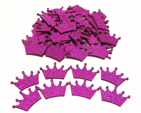 Fuchsia Glitter Wood Crown (100 Pieces)