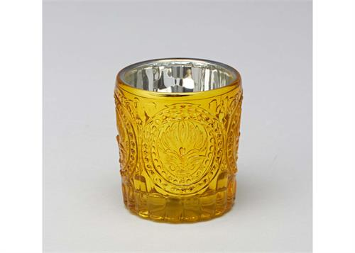 3 1 4 Quot Round Gold Glass Candle Holder 12 Pieces 25 00