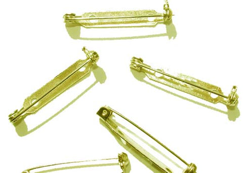 Gold Metal Pins (144 Pieces)